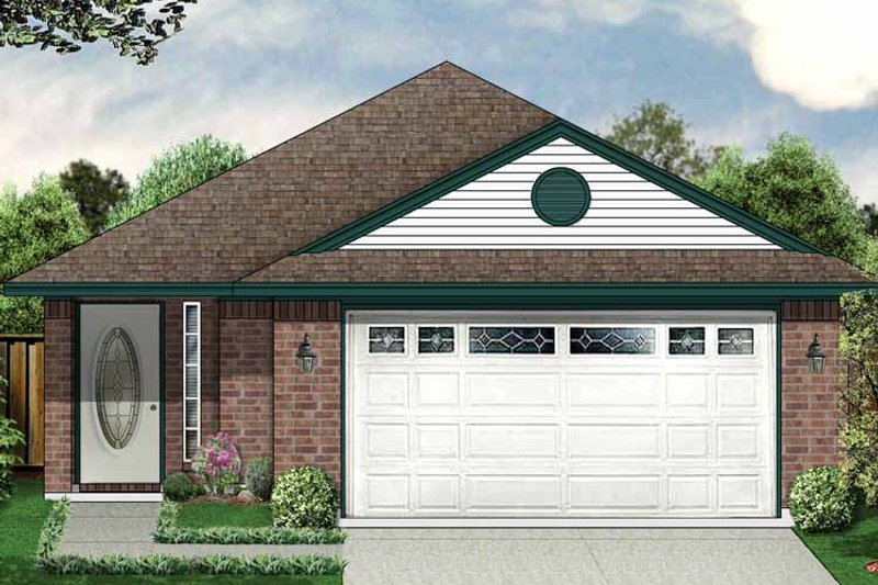 Ranch Exterior - Front Elevation Plan #84-665 - Houseplans.com