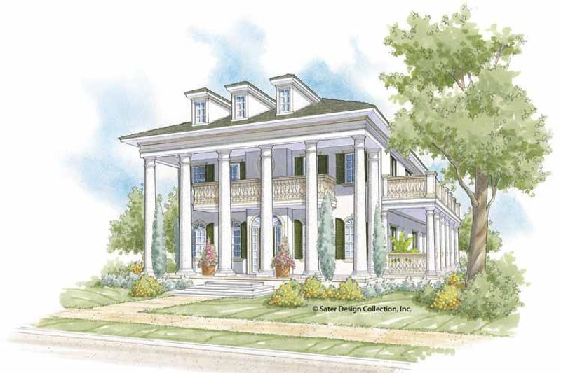 Southern Exterior - Front Elevation Plan #930-404 - Houseplans.com