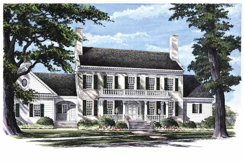Classical Exterior Front Elevation Plan 137 312