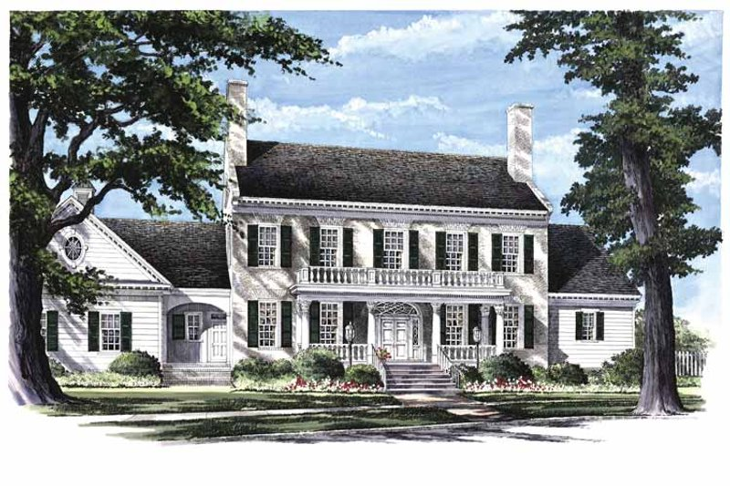 Classical Exterior - Front Elevation Plan #137-312 - Houseplans.com