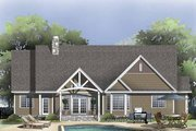 Craftsman Style House Plan - 4 Beds 3 Baths 2634 Sq/Ft Plan #929-827 Exterior - Rear Elevation