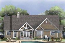 Craftsman Exterior - Rear Elevation Plan #929-827