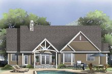 Craftsman Exterior - Rear Elevation Plan #929-827