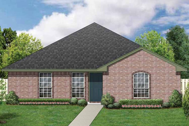 Ranch Exterior - Front Elevation Plan #84-661 - Houseplans.com