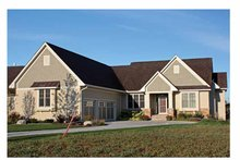 Ranch Exterior - Front Elevation Plan #51-1069