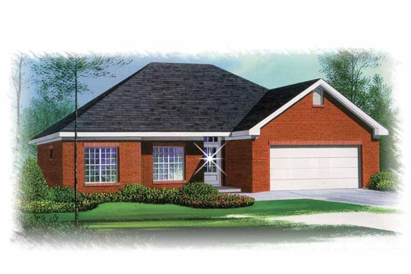 Ranch Exterior - Front Elevation Plan #15-353
