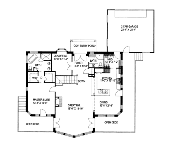 Ranch Floor Plan - Main Floor Plan Plan #117-838