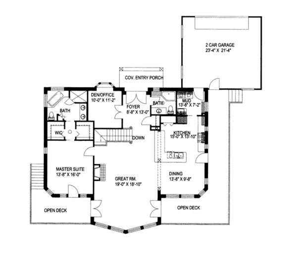 Ranch Floor Plan - Main Floor Plan Plan #117-838