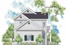 Home Plan - Country Exterior - Rear Elevation Plan #930-394