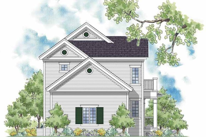 Country Exterior - Rear Elevation Plan #930-394 - Houseplans.com