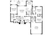 Mediterranean Style House Plan - 3 Beds 2 Baths 1808 Sq/Ft Plan #930-452 Floor Plan - Main Floor Plan