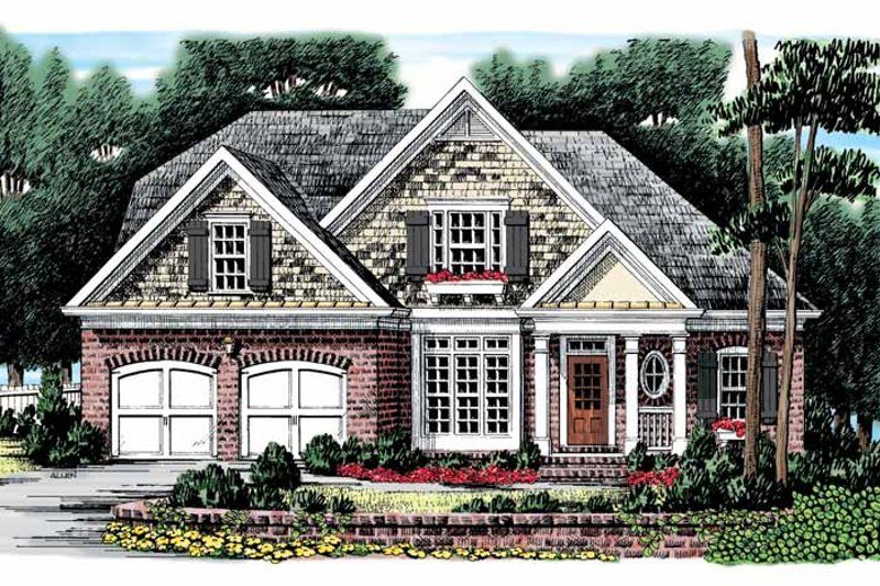 Bungalow Exterior - Front Elevation Plan #927-873