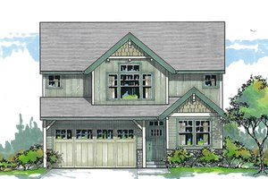 House Plan Design - Traditional Exterior - Front Elevation Plan #53-579