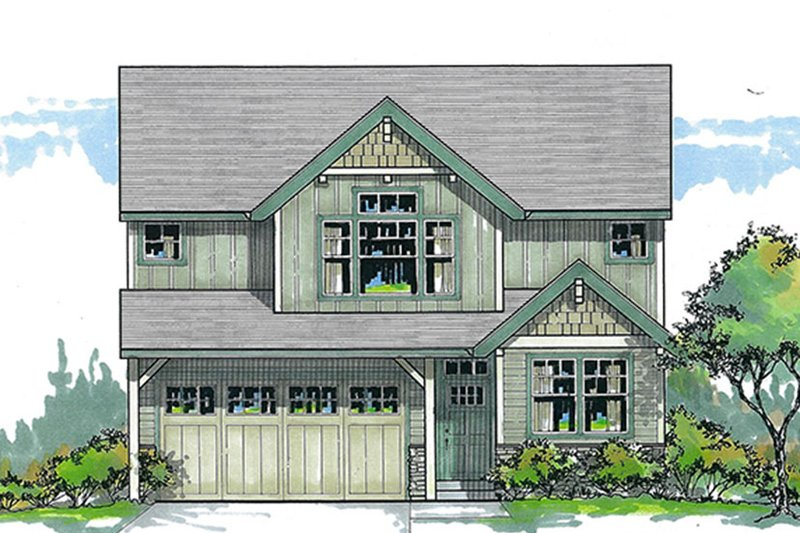 Architectural House Design - Traditional Exterior - Front Elevation Plan #53-579