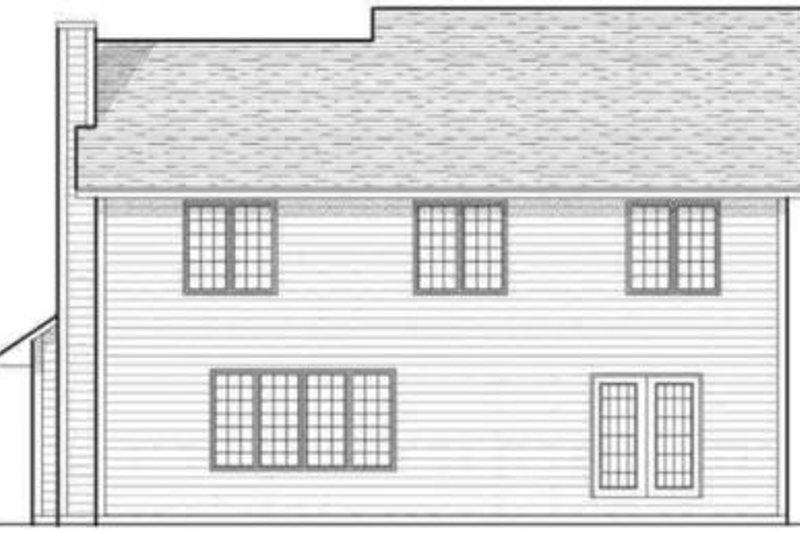 Traditional Exterior - Rear Elevation Plan #70-600 - Houseplans.com