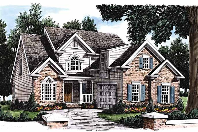 Dream House Plan - Traditional Exterior - Front Elevation Plan #927-207