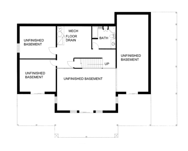 Home Plan - Ranch Floor Plan - Lower Floor Plan #117-856