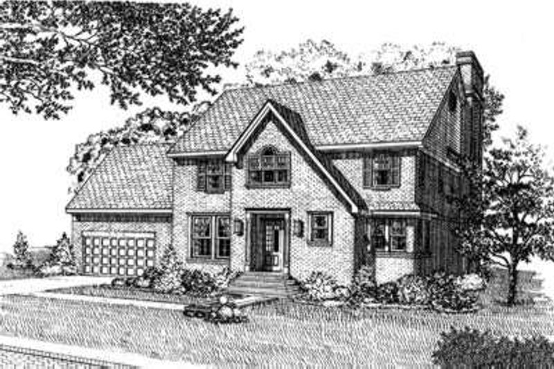 Colonial Exterior - Front Elevation Plan #410-368