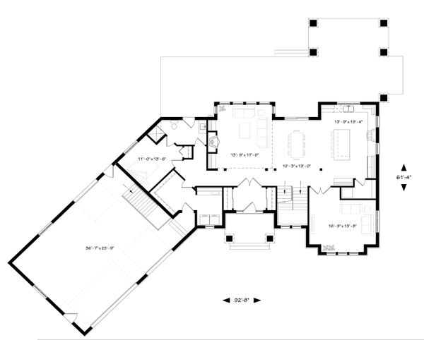 Traditional Floor Plan - Main Floor Plan Plan #23-2311