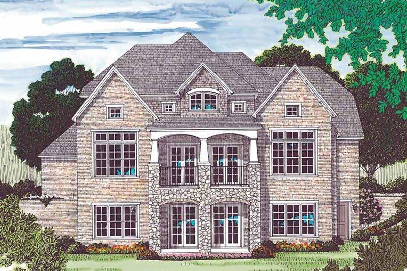 Craftsman Exterior - Rear Elevation Plan #453-450 - Houseplans.com