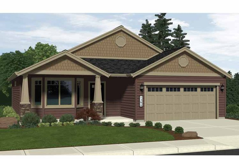 Craftsman Exterior - Front Elevation Plan #943-8