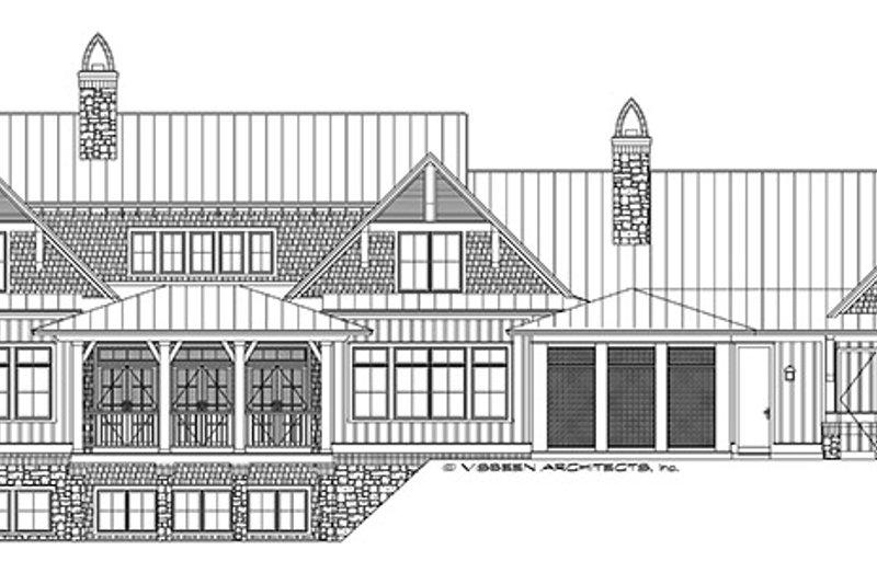 Country Exterior - Rear Elevation Plan #928-276 - Houseplans.com