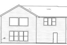 Prairie Exterior - Rear Elevation Plan #509-226