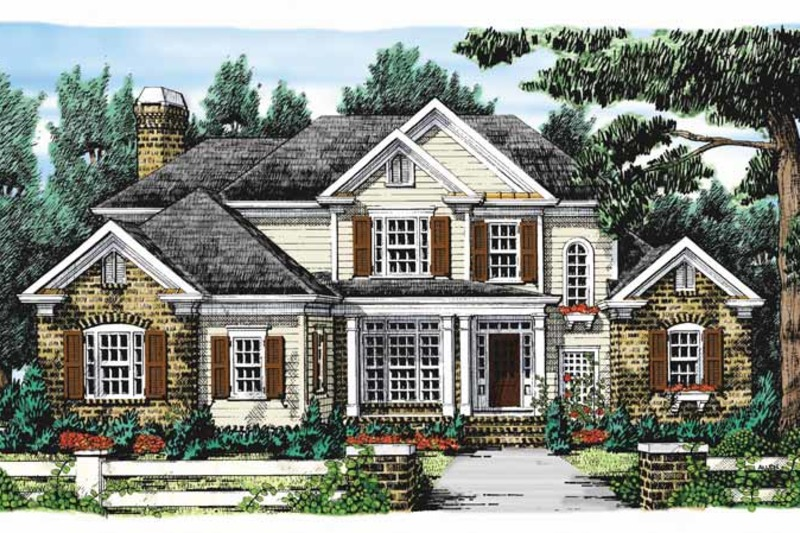 Colonial Exterior - Front Elevation Plan #927-849 - Houseplans.com