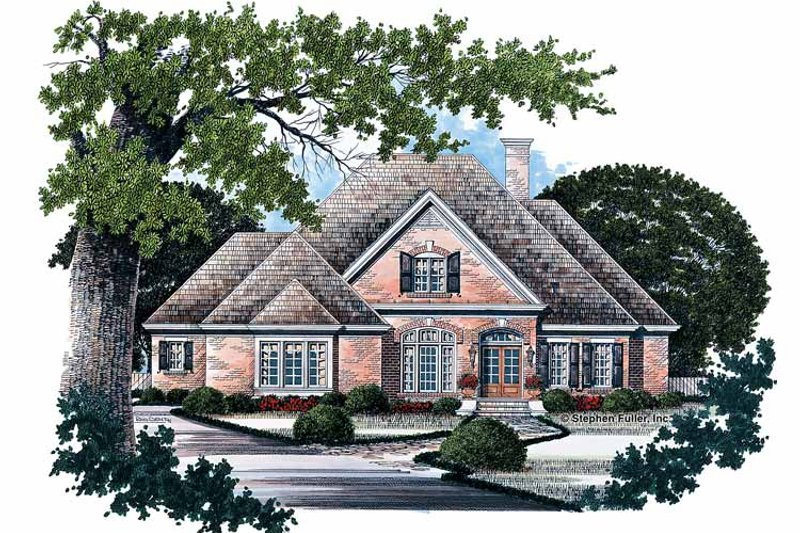 Traditional Exterior - Front Elevation Plan #429-80 - Houseplans.com