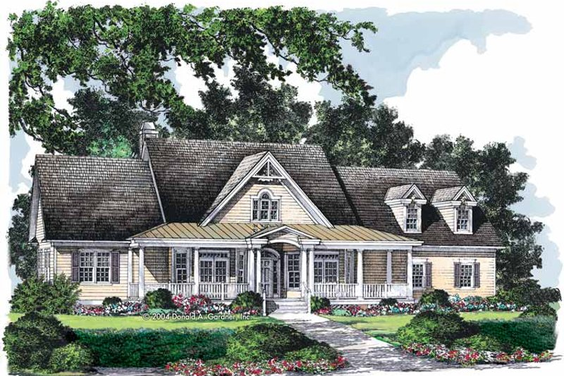Country Exterior - Front Elevation Plan #929-729