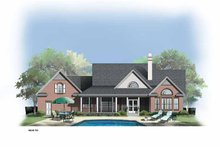 Dream House Plan - Country Exterior - Rear Elevation Plan #929-308