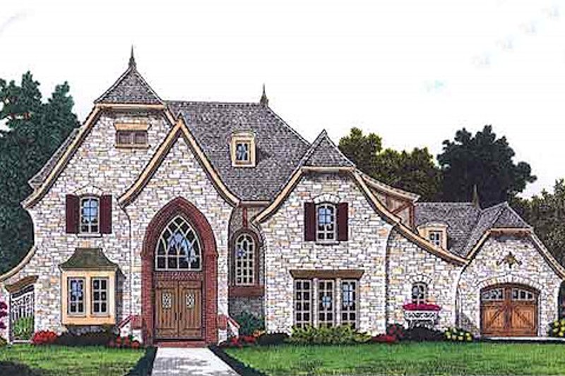 Home Plan - European Exterior - Front Elevation Plan #310-698