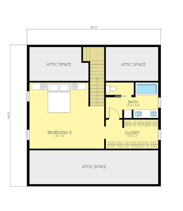 Cottage Floor Plan - Upper Floor Plan Plan #497-13