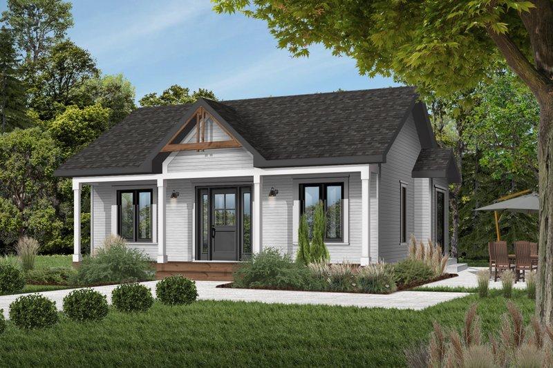 Architectural House Design - Cottage Exterior - Front Elevation Plan #23-105