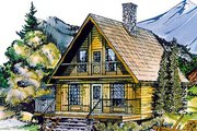 Cottage Style House Plan - 3 Beds 1.5 Baths 1073 Sq/Ft Plan #47-106 Exterior - Front Elevation