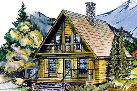Cottage Exterior - Front Elevation Plan #47-106