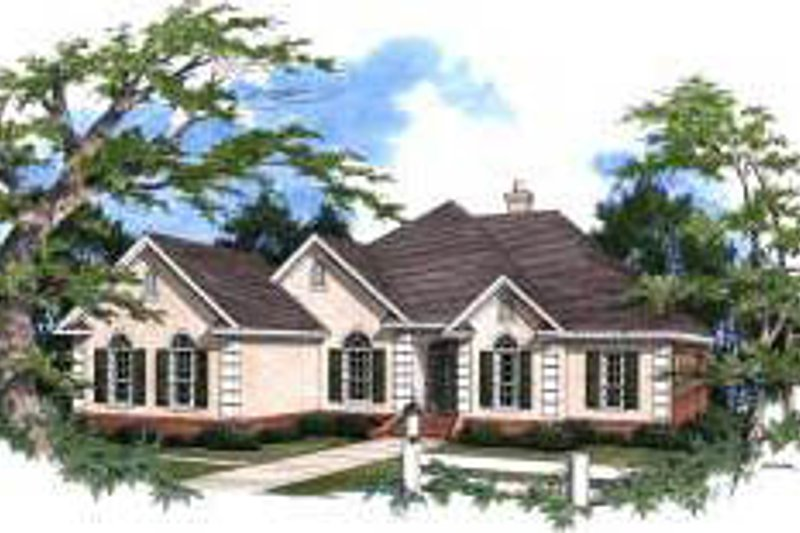 Traditional Exterior - Front Elevation Plan #37-186 - Houseplans.com