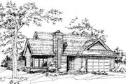 Traditional Style House Plan - 3 Beds 2 Baths 1231 Sq/Ft Plan #320-129 Exterior - Front Elevation
