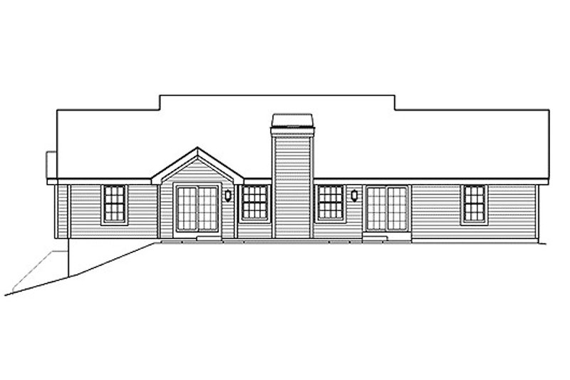 Farmhouse Exterior - Rear Elevation Plan #57-356 - Houseplans.com