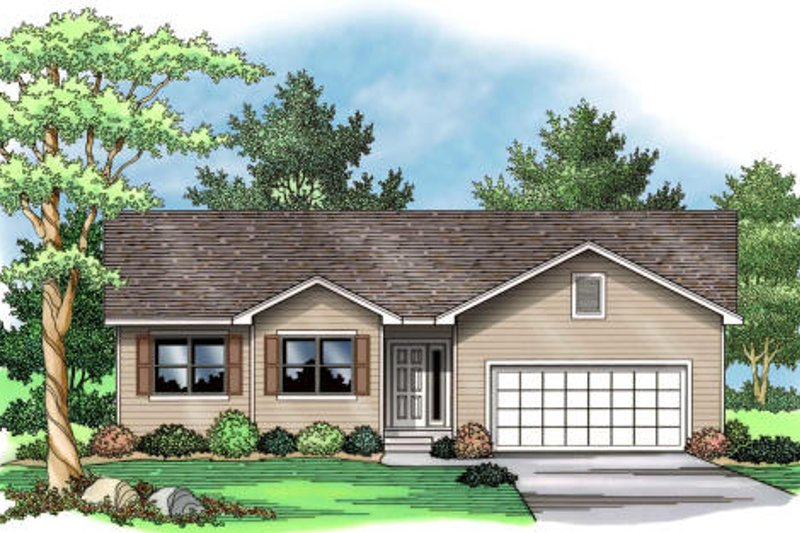 Traditional Exterior - Other Elevation Plan #51-373 - Houseplans.com