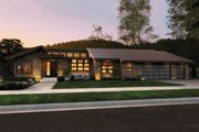 Modern Style House Plan - 3 Beds 3.5 Baths 3296 Sq/Ft Plan #48-544 Exterior - Front Elevation