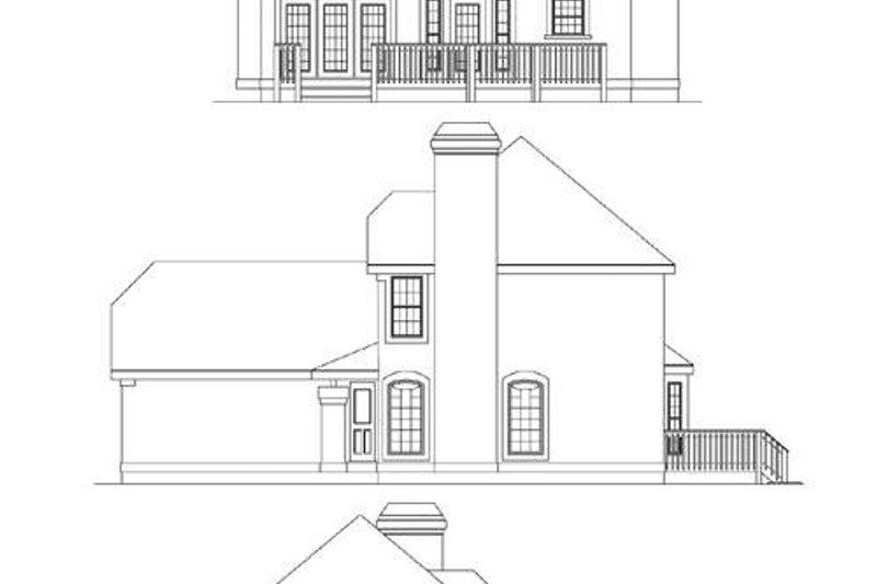 European Exterior - Rear Elevation Plan #57-133 - Houseplans.com