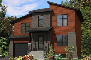 Cottage Exterior - Front Elevation Plan #138-371