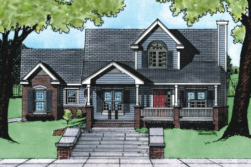 Dream House Plan - Traditional Exterior - Front Elevation Plan #20-409