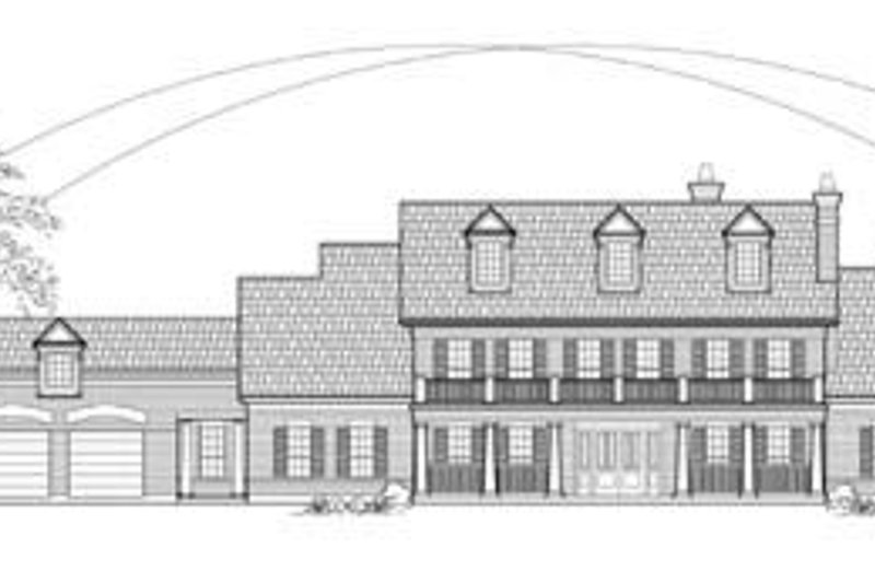 Country Exterior - Front Elevation Plan #61-157