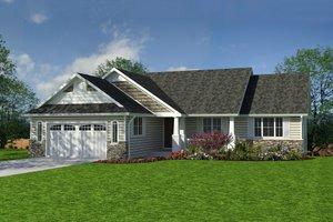Craftsman style, Ranch Design, front elevation