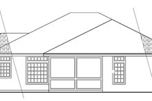 Home Plan - Mediterranean Exterior - Rear Elevation Plan #124-432