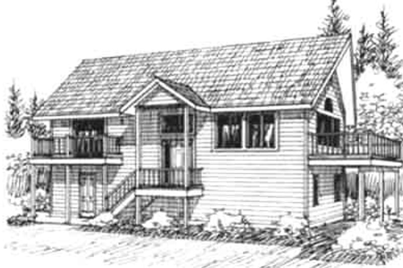 Country Exterior - Front Elevation Plan #117-202 - Houseplans.com