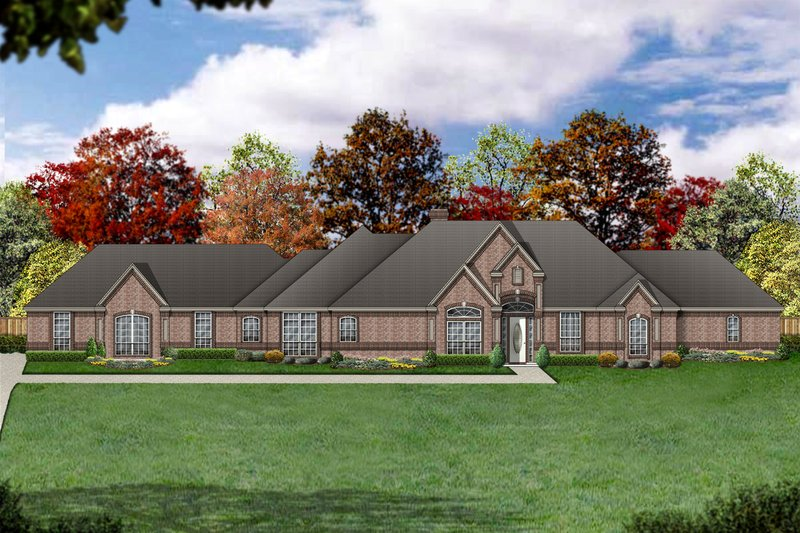 Dream House Plan - Traditional Exterior - Front Elevation Plan #84-407