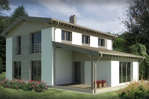 Contemporary Exterior - Front Elevation Plan #906-12